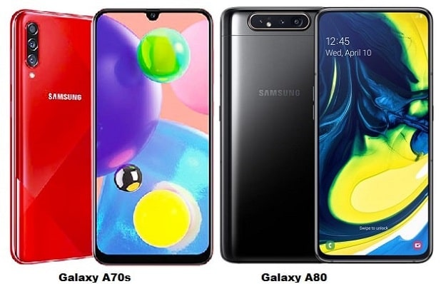 Samsung Galaxy A70s Vs Samsung Galaxy A80 Specs Comparison