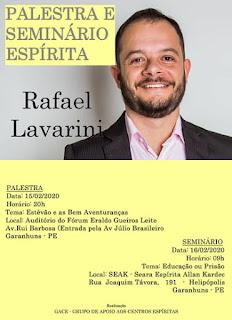 Rafael Lavarini em Garanhuns (Palestra e Seminário)
