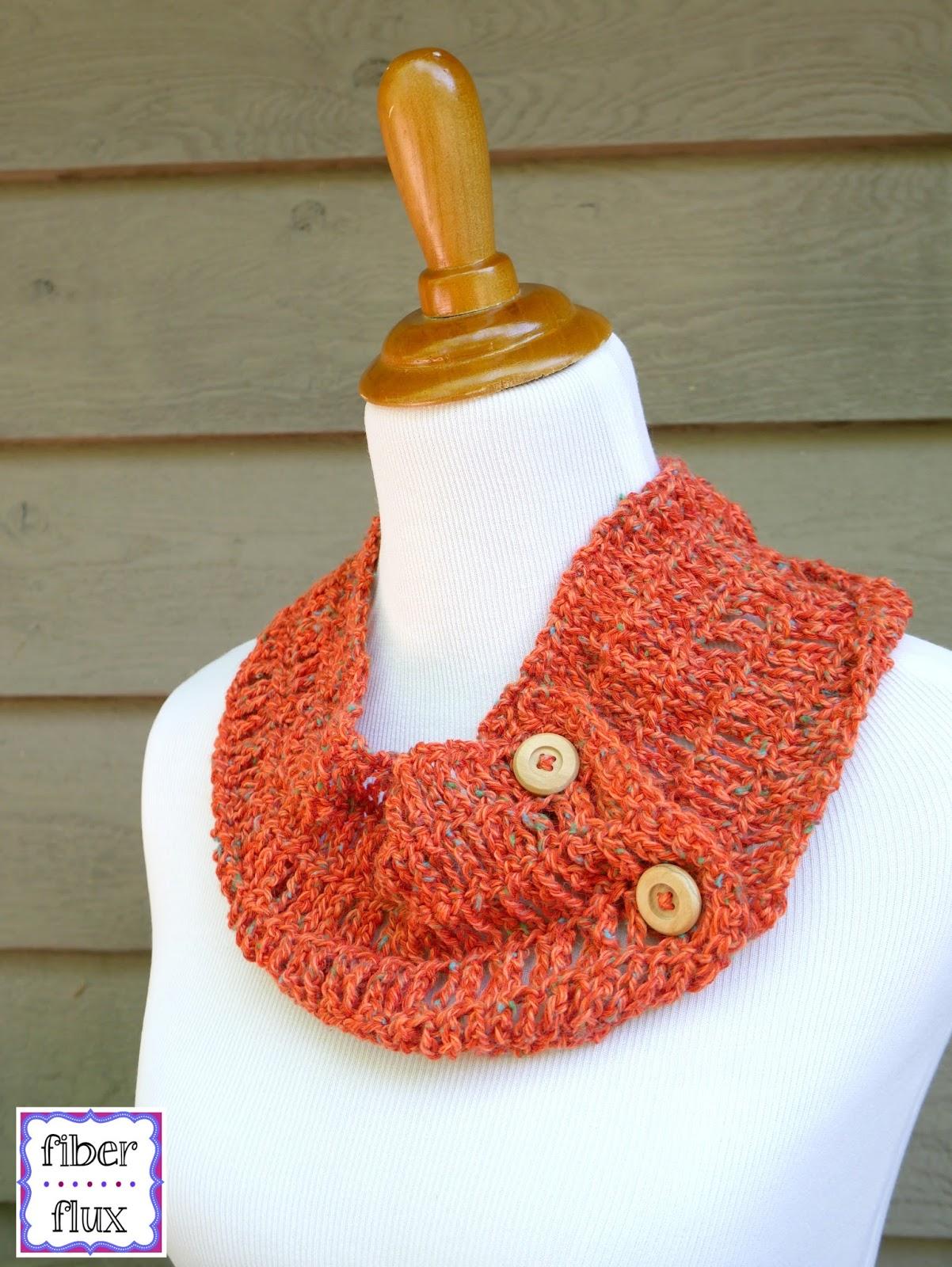 Fiber Flux Free Crochet Patterntiger Lily Summer Cowl