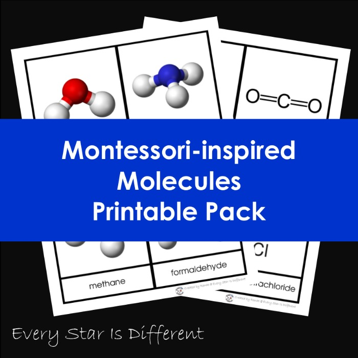 Montessori-inspired Molecules Printable Pack