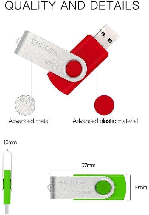 Review ENUODA 32 gb Thumb Drive Memory Stick