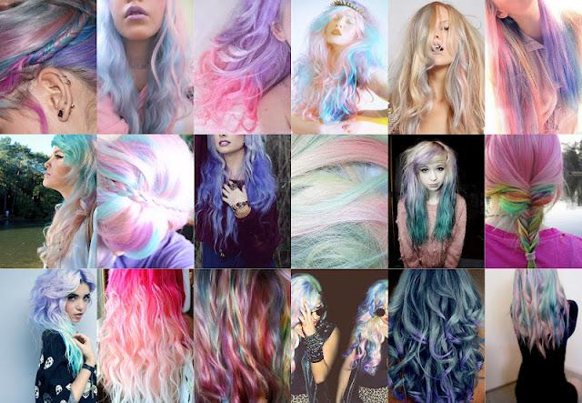 Resultado de imagem para cabelo unicornio