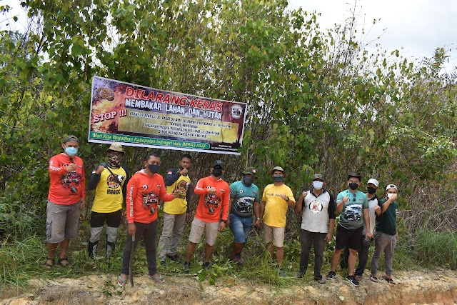 Sosialisasi Larang Karhutla, BJC Trek Sambangi Masyarakat