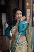 Tejaswi Madivada looks super cute in Saree at V care fund raising event COLORS ~  Exclusive 007.JPG