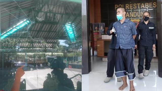 Masjid di Dago Bandung Dilempar Batu hingga Kaca Pecah, Pelaku Diduga Gangguan Jiwa