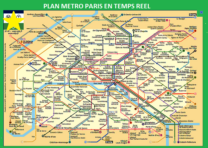 Carte Ratp.Plan Metro Paris Plan Interactif Metro 75