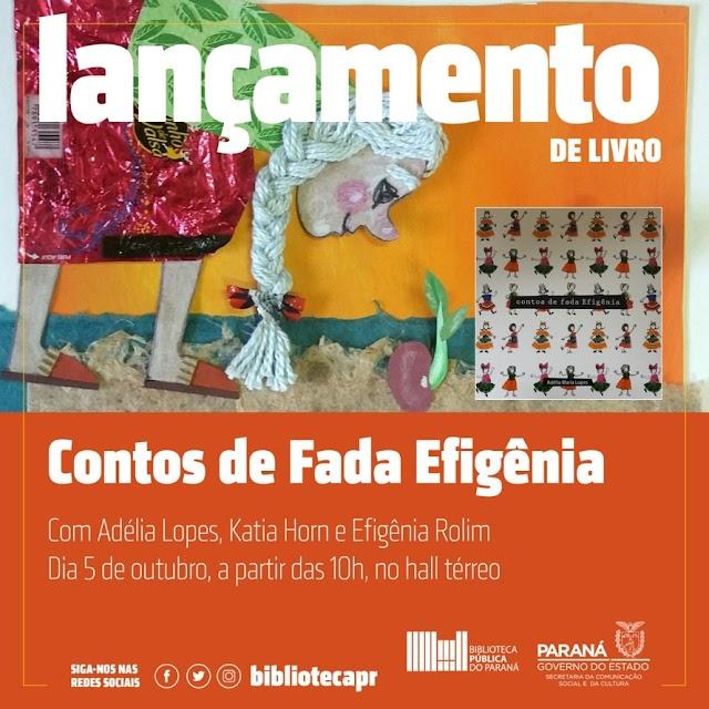 Adélia Lopes lança o livro Contos de Fada Efigênia na Biblioteca