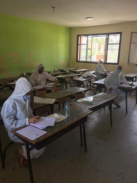 بداية عملية تصحيح امتحانات الباكالوريا بأحد مراكز التصحيح بالخميسات.