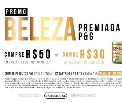 Cadastrar Promoção P&G Beleza Premiada 2021 Comprou Ganhou