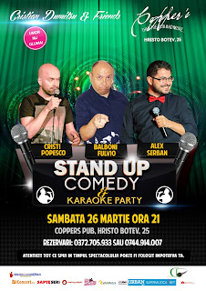 Stand-Up Comedy & Karaoke Party Sambata 26 Martie