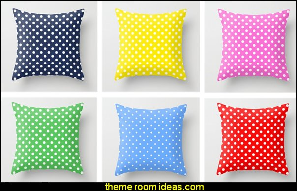 polka dot throw pillows polka dots  polka dot bedroom decorating ideas - polka dot wall decals -  polka dot bedroom theme - bedroom circles - polka dots decor  - polka dot wall murals - polka dot bedding - Polka Dot decals - polka dot walls - polka dot pillows - polka dot comforters - polka dot duvets -