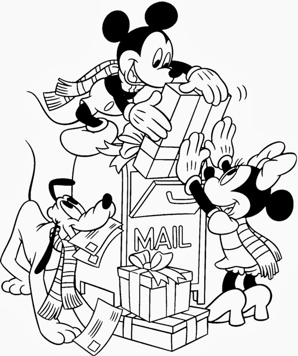 6 Mickey Mouse Disney Christmas Coloring Pages For Kids