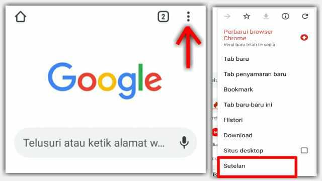 Cara Mengubah Lokasi penyimpananDownload Chrome Hp android