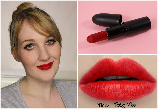 MAC Ruby Woo lipstick swatches & review