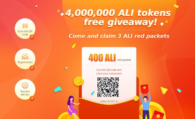 Đăng ký nhận 50 token ALI - Sàn Hotbit