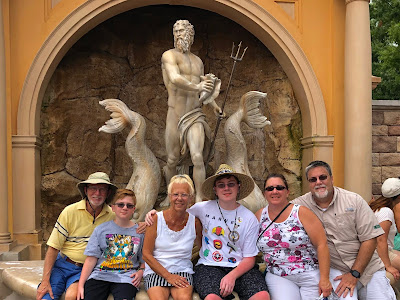 Photos of David Brodosi at Epcot with family