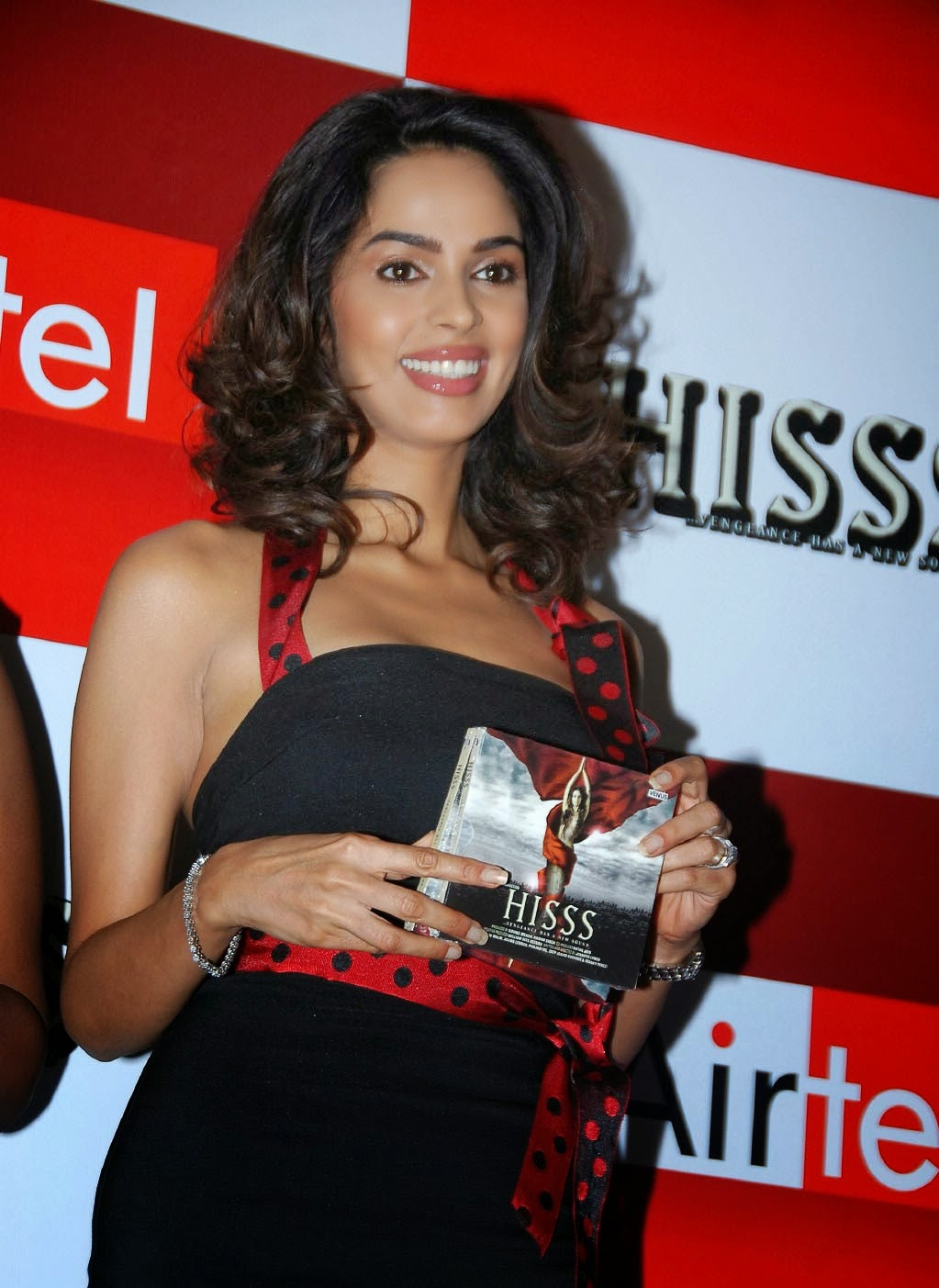 Bollywood Actress Mallika Sherawat In Black Dress - Cap