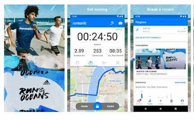 aplikasi jogging Runtastic Running App: Run & Mileage Tracker