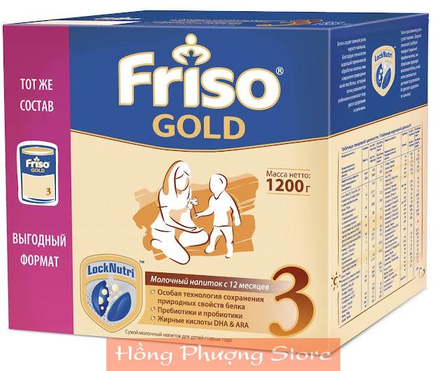 Sữa Friso Gold 3 dành cho trẻ trên 12 tháng tuổi - hộp 1200g