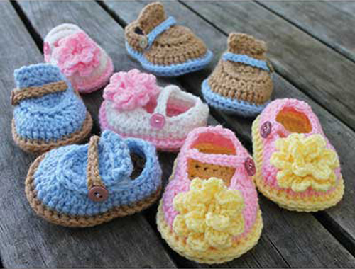 Boy & Girl Baby Shoes - Crochet Pattern
