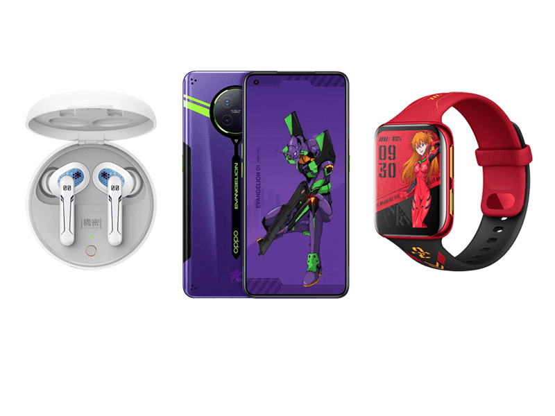 OPPO releases Evangelion-branded Ace2, AirVOOC, Enco W31, and Watch!