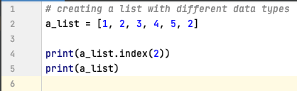 Retrieve index of an element in List - Python