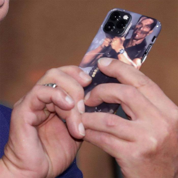 Arnold Schwarzenegger got his new iPhone a case