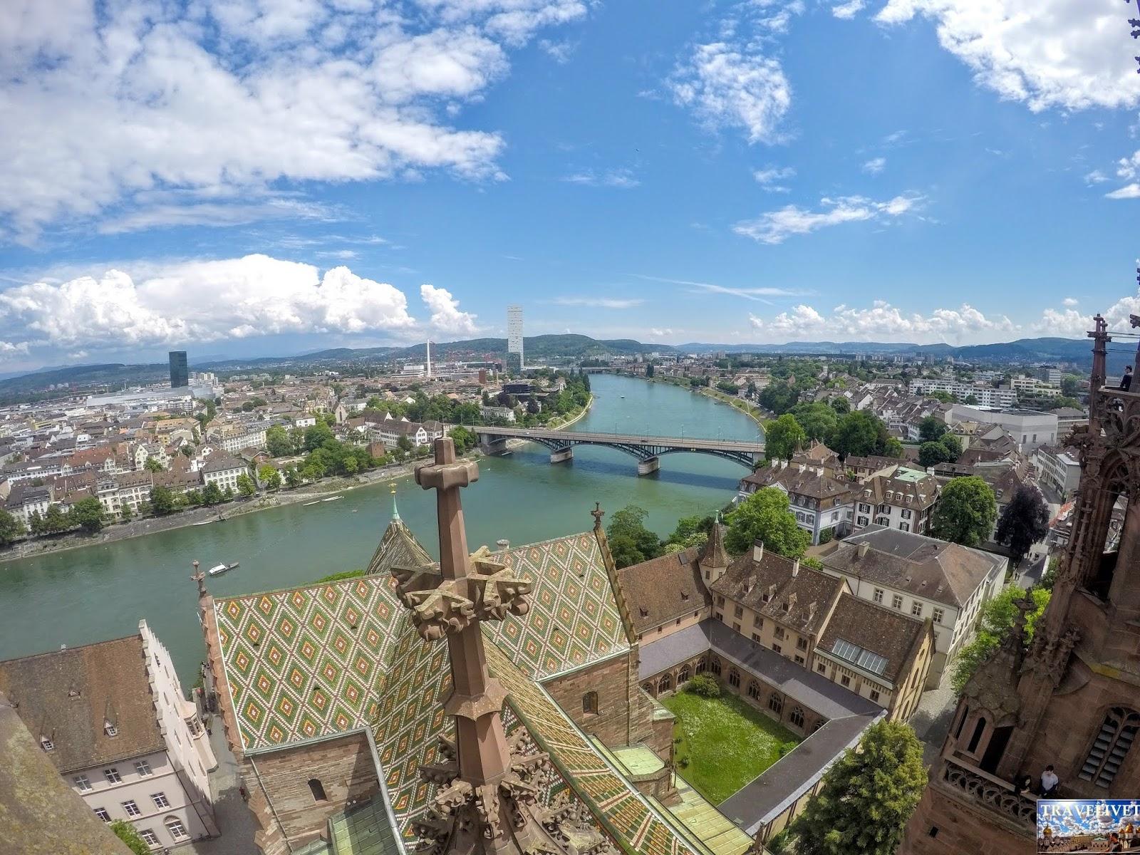 Bâle Basel Suisse vue de la cathédrale
