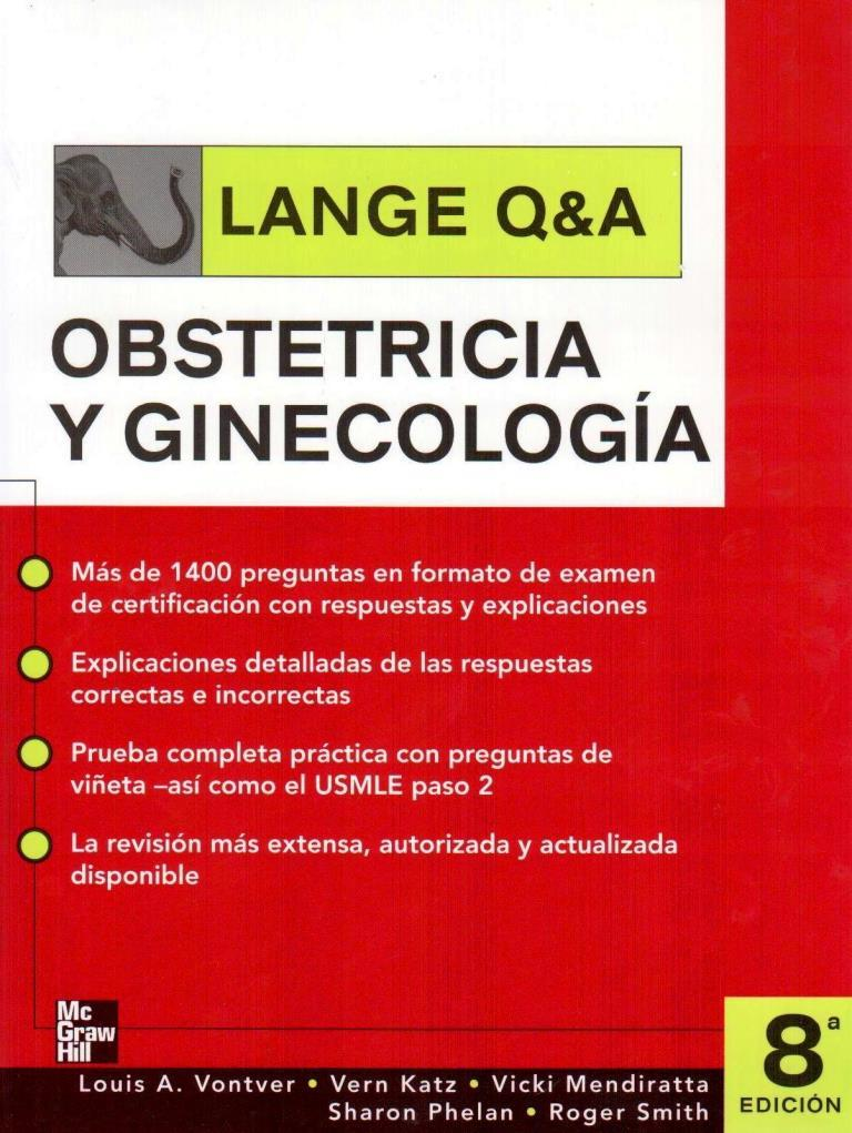 LANGE Q&A: Obstetricia y ginecologia, 8va Edición – Louis A. Vontver