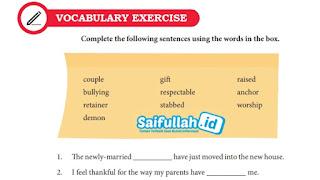 Kunci Jawaban Bahasa Inggris Chapter 12, Vocabulary Exercise, Hal 162 Kelas 10 SMA SMK MA