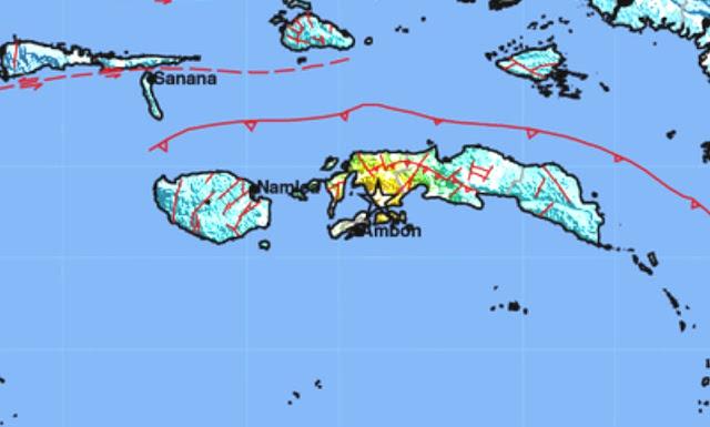 Sesar Aktif Penghasil Gempa Ambon