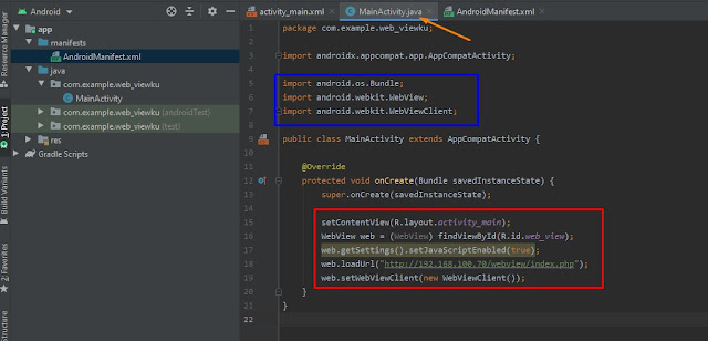 Aplikasi Web View dengan Android Studio