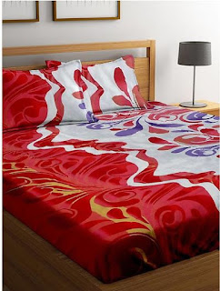 Printed Cotton Double Bedsheet with 2 Pillow Cover - Multicolor