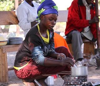 Making dinner in Nigeria.