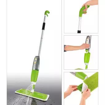 Healthy Spray Mop Alat Pel Lantai Semprot, random colour. Kain Pel Microfiber. Dilengkapi Sprayer bisa diisi cairan pembersih. Tabung Air Anti Bocor atas-bawah. Tak perlu membasahi ulang pel. Kain Microfiber bisa diganti