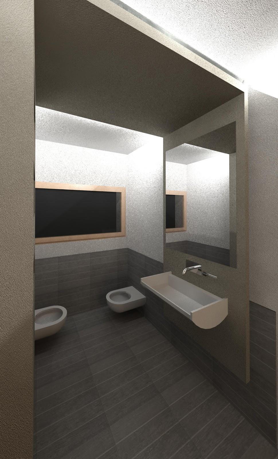 Geometra pprogetto di un bagno con stile moderno - Pavimento bagno moderno ...