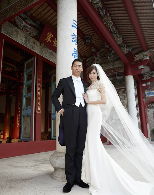 Lin Chiling wedding gown