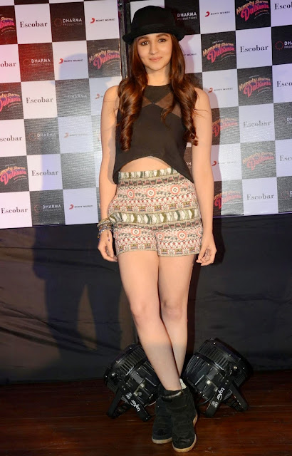 Bollywood Actress Alia Bhatt Latest Photos At Audio Event Navel Queens