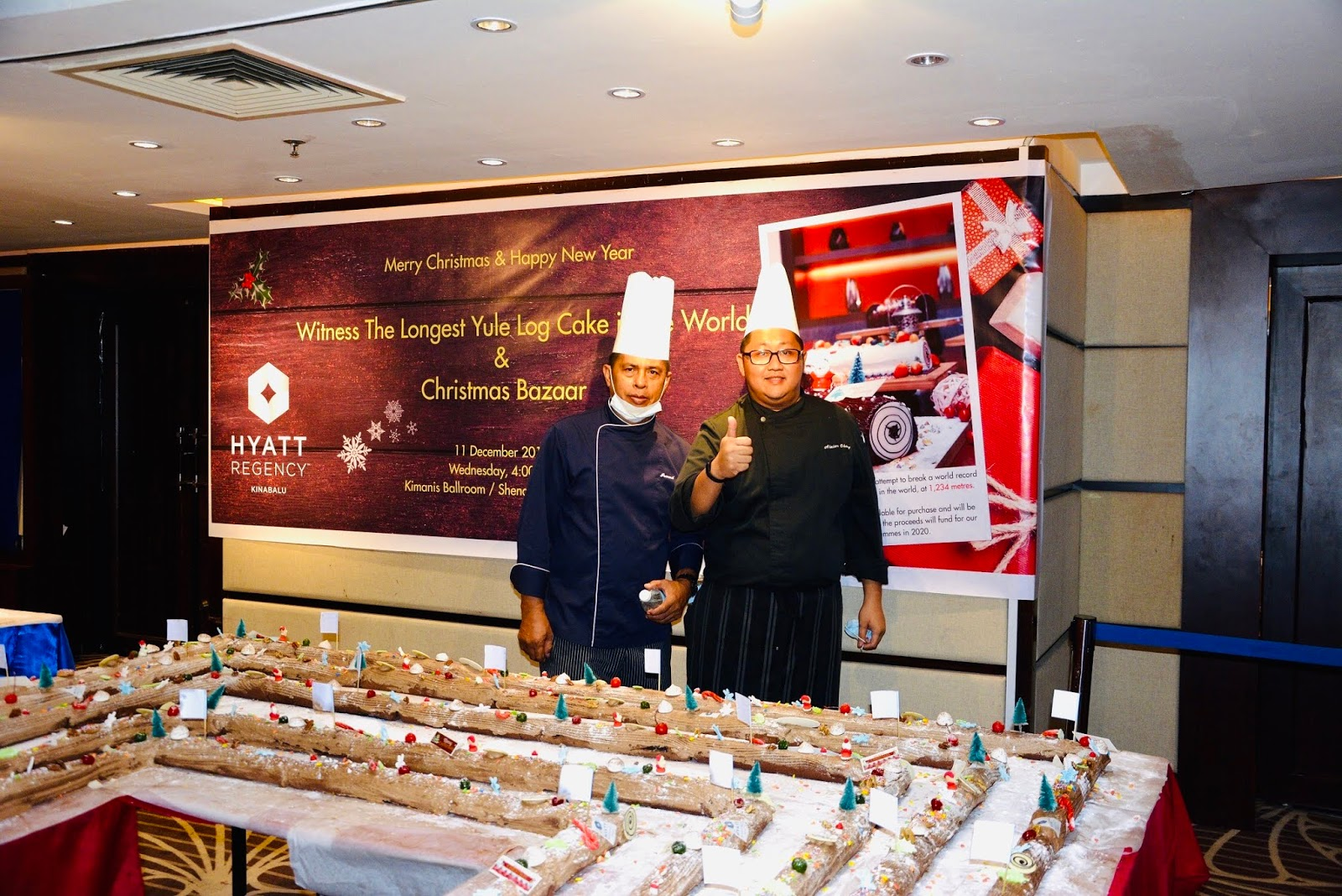 HYATT REGENCY KINABALU RECORD BREAKING ATTEMPT FOR WORLD'S LONGEST YULE LOG CAKE