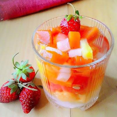 cara membuat koktail buah