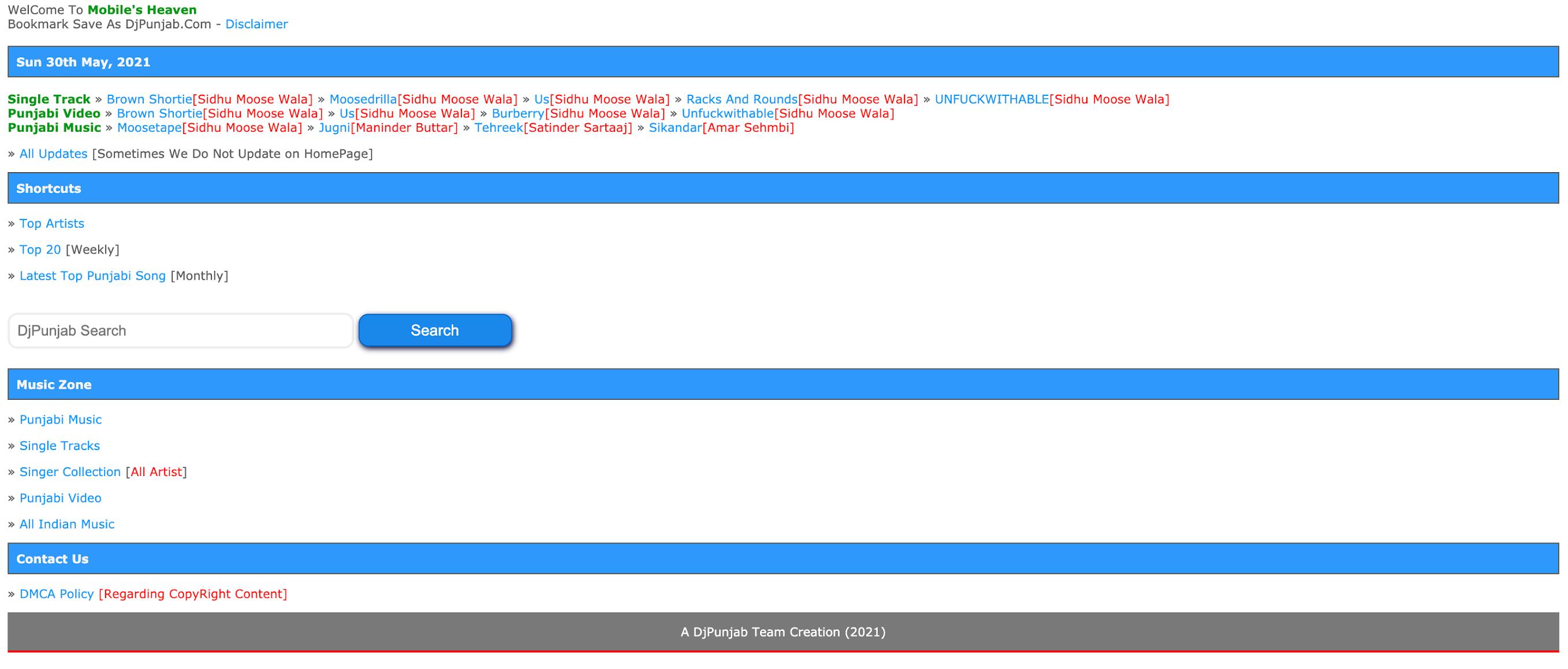 DJPunjab 2021 website