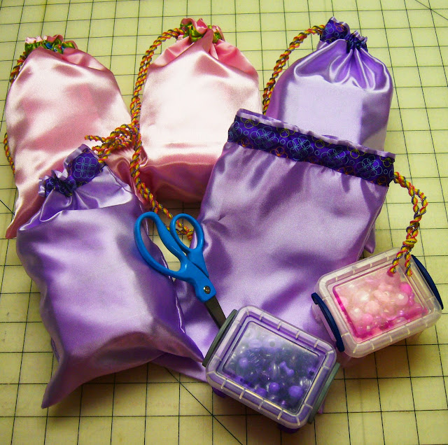 Bead Kits and drawstring bags