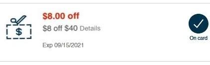 $8.00/$40.00 your next purchase CVS crt store Coupon (Select CVS Couponers)