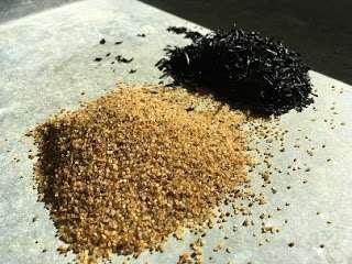 Campuran Ban Bekas dengan Pasir