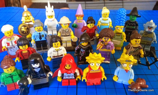 Random collection of LEGO female figures and minifigures