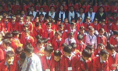 Photo of Teachers and Students in a group of Parijat Vidyalaya Margherita