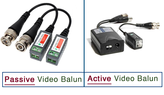 passive and active video balun