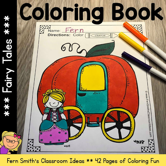 Fairy Tales Coloring Pages - 42 Pages of Fairy Tale Fun #FernSmithsClassroomIdeas