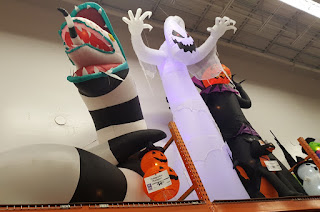 Inflatable Halloween decorations at Home Depot in the USA
