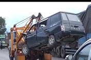 Kecelakaan Beruntun di Batubara, Sopir dan Anaknya Terjepit
